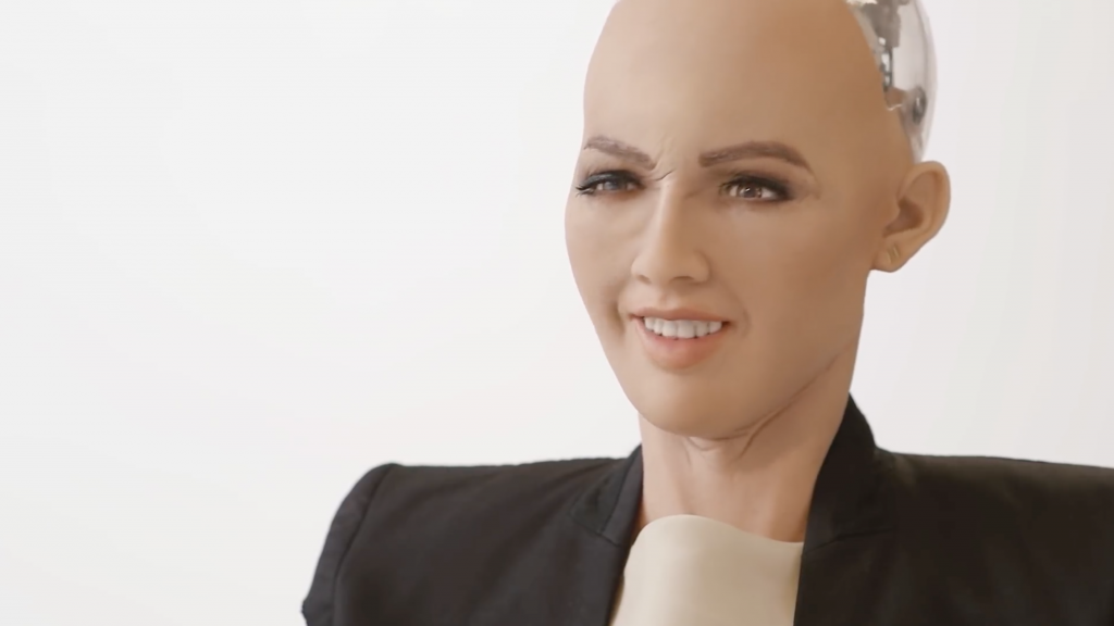 Sophia the Robot an der Volvo Art Session 2018