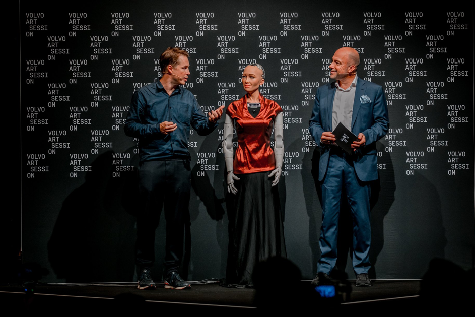 Sophia the Robot an der Volvo Art Session 2018